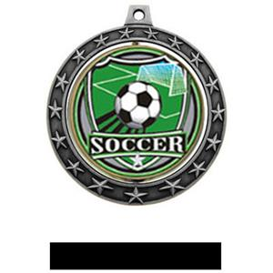 SHIELD INSERT/SILVER MEDAL-BLACK RIBBON