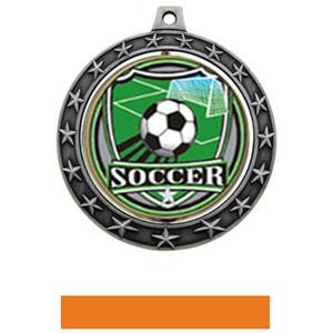 SHIELD INSERT/SILVER MEDAL-ORANGE RIBBON