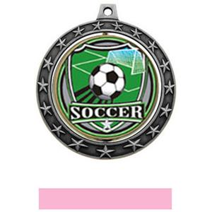 SHIELD INSERT/SILVER MEDAL-PINK RIBBON