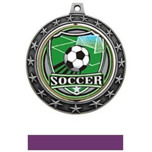 SHIELD INSERT/SILVER MEDAL-PURPLE RIBBON