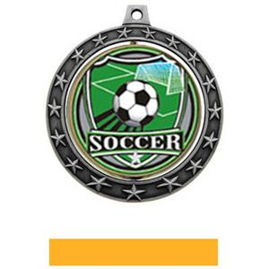 SHIELD INSERT/SILVER MEDAL-YELLOW RIBBON