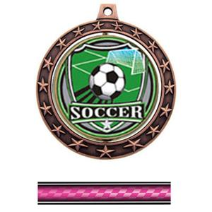 SHIELD INSERT/BRONZE MEDAL/VICTORY PINK NECK RIBBO