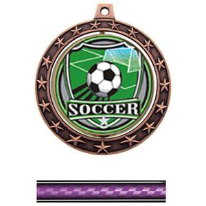SHIELD INSERT/BRONZE MEDAL/VICTORY PURPLE NECK RIB