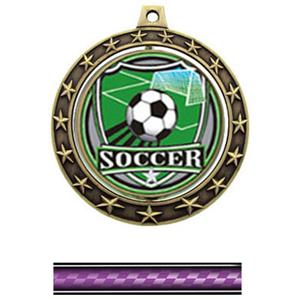 SHIELD INSERT/GOLD MEDAL/VICTORY PURPLE NECK RIBBO