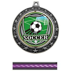 SHIELD INSERT/SILVER MEDAL/VICTORY PURPLE NECK RIB