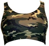 Gem Gear Green Camouflage Racer Back Sports Bra