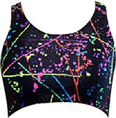 Gem Gear Paint Splatter Racer Back Sports Bra