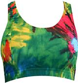Gem Gear Tie Dye Blast Racer Back Sports Bra