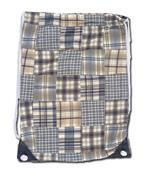 "Fit 2 Win Madras Drawstring 13""x17"" Backpack - MK"