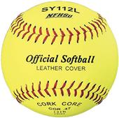 "Martin Official 11"" or 12"" Yellow NFHS Softballs"