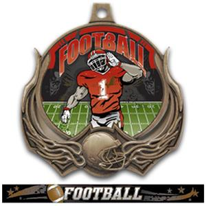 BRONZE MEDAL/ULTIMATE FOOTBALL RIBBON