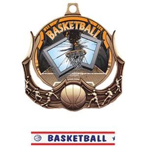 BRONZE MEDAL/AMERICANA BASKETBALL RIBBON