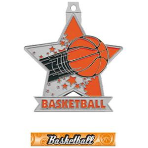SILVER MEDAL/GRAPHX BASKETBALL RIBBON
