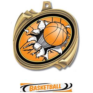GOLD MEDAL/DELUXE BASKETBALL RIBBON