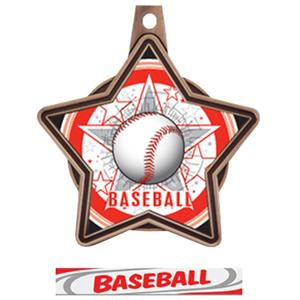 BRONZE MEDAL / DELUXE BASEBALL RIBBON