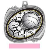 Volleyball Bust-Out Insert Medals M-2201V