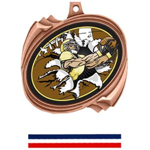 BRONZE MEDAL / RED WHITE & BLUE RIBBON