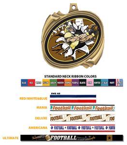 GOLD MEDAL / AMERICANA FOOTBALL RIBBON