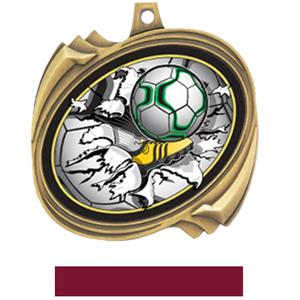 GOLD MEDAL MAROON RIBBON