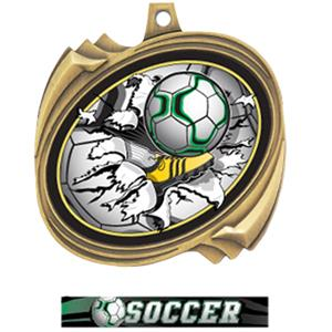 GOLD MEDAL ULTIMATE SOCCER RIBBON