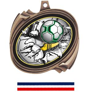 BRONZE MEDAL (RWB) RED WHITE & BLUE RIBBON