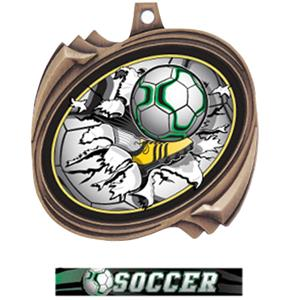 BRONZE MEDAL ULTIMATE SOCCER RIBBON