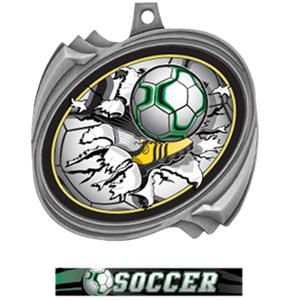 SILVER MEDAL ULTIMATE SOCCER RIBBON
