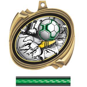 GOLD MEDAL/VICTORY GREEN NECK RIBBON