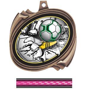 BRONZE MEDAL/VICTORY PINK NECK RIBBON