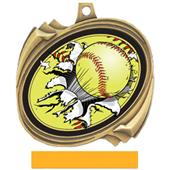 Hasty Awards Softball Bust-Out Insert Medals