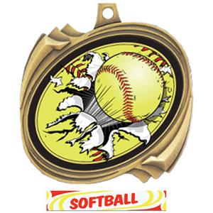 GOLD/DELUXE SOFTBALL RIBBON