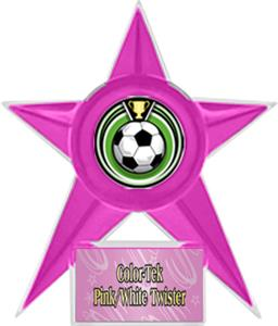 PINK STAR/PINK TWISTER LABEL - ECLIPSE MYLAR