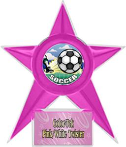 PINK STAR/PINK TWISTER LABEL - HD MYLAR