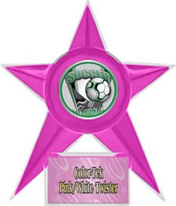 PINK STAR/PINK TWISTER LABEL - PROSPORT MYLAR