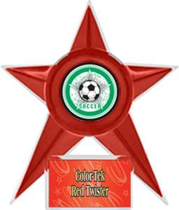 RED STAR/RED TWISTER LABEL - ALL-STAR MYLAR