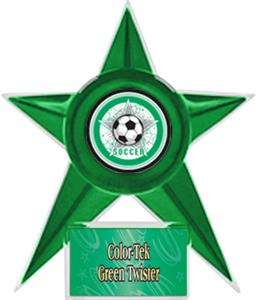 GREEN STAR/GRN TWISTER LABEL - ALL-STAR MYLAR
