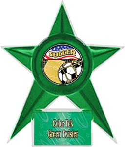 GREEN STAR/GRN TWISTER LABEL-AMERICANA MYLAR