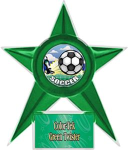 GREEN STAR/GRN TWISTER LABEL - HD MYLAR