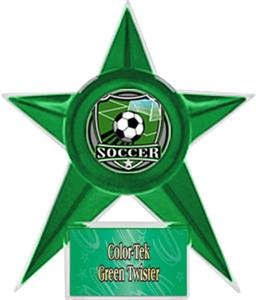 GREEN STAR/GRN TWISTER LABEL - SHIELD MYLAR