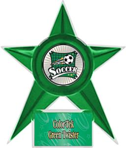 GREEN STAR/GRN TWISTER LABEL - XTREME MYLAR