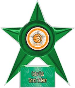GREEN STAR/GREEN TWISTER LABEL - ALL-STAR MYLAR