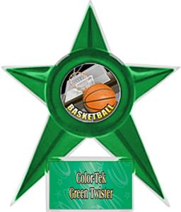 GREEN STAR/GREEN TWISTER LABEL - HD MYLAR