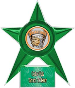 GREEN STAR/GREEN TWISTER LABEL - PROSPORT MYLAR