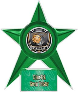 GREEN STAR/GREEN TWISTER LABEL - SHIELD MYLAR