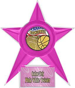 PINK STAR/PINK TWISTER LABEL - AMERICANA MYLAR