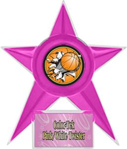PINK STAR/PINK TWISTER LABEL - BUST-OUT MYLAR