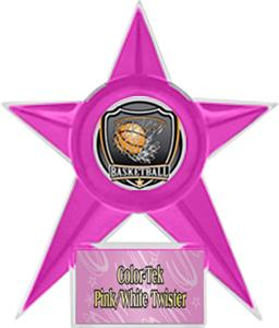 PINK STAR/PINK TWISTER LABEL - SHIELD MYLAR