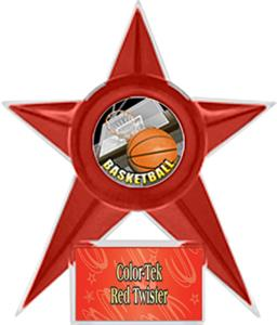 RED STAR/RED TWISTER LABEL - HD MYLAR