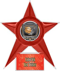 RED STAR/RED TWISTER LABEL - SHIELD MYLAR