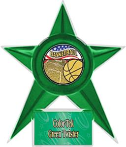 GREEN STAR/GREEN TWISTER LABEL - AMERICANA MYLAR